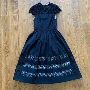 Alice + Olivia Black Lace Dress Size 4